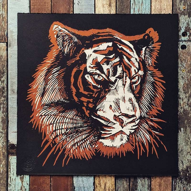 The Bearhug Co Tigerface Two Screenprint Limited Edition P Image